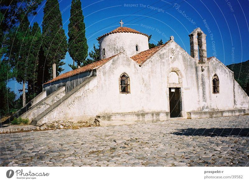 Panagia schön Himmel weiß blau Religion & Glaube Europa historisch Kopfsteinpflaster Griechenland Kreta