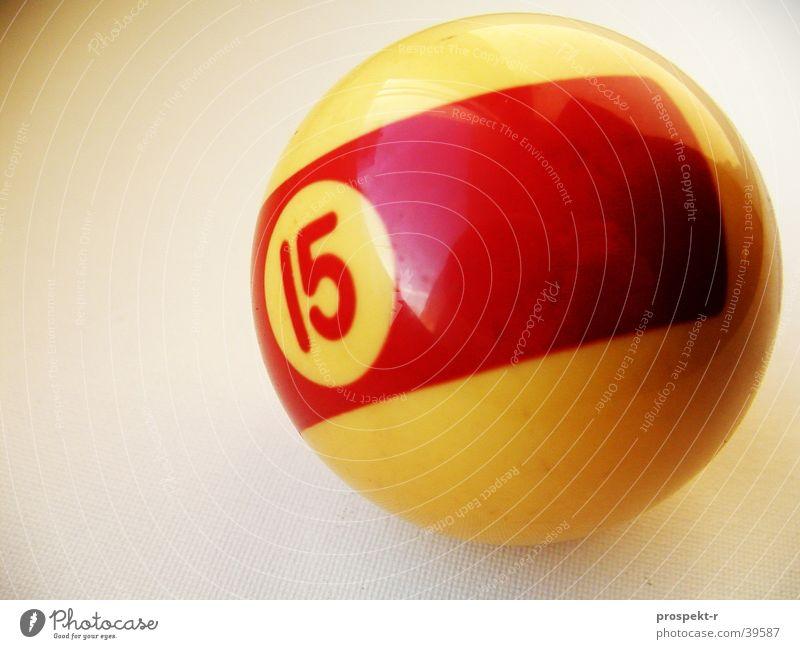 Billard 15 Freizeit & Hobby Ziffern & Zahlen Kugel Elfenbein