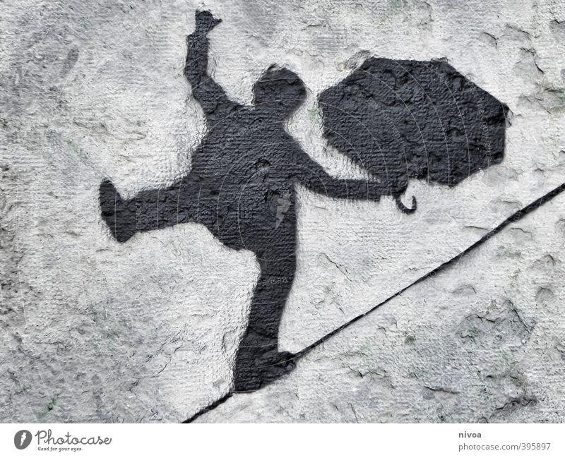 hoch das bein Mensch Himmel Mann Jugendliche ruhig schwarz Erwachsene Straße Bewegung Freiheit grau oben Stein gehen außergewöhnlich Kunst