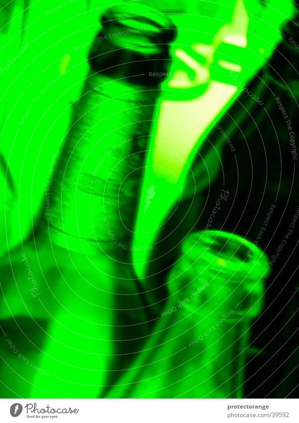 funky flaschenhals grün Club Licht Flaschenhals gehen Langzeitbelichtung