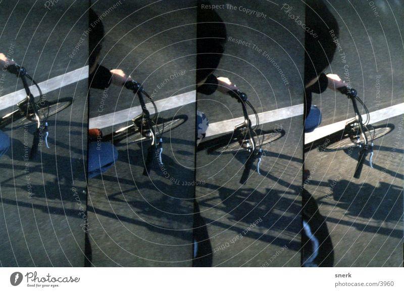 Topview Fahrrad Verkehr Lomografie