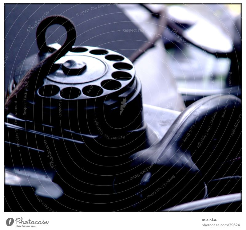 Telefon Telefon Kabel Dinge Telefonhörer besetzen Wählscheibe