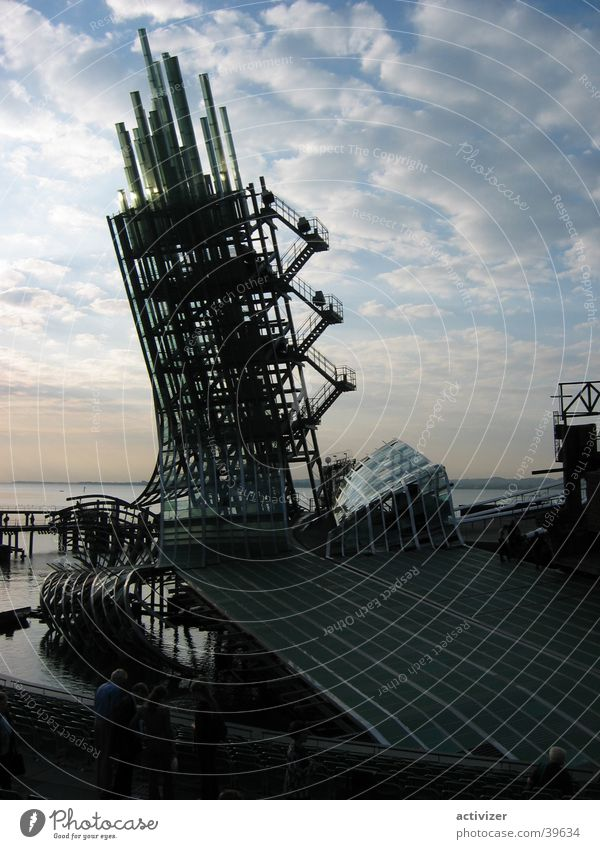 Tower Wolken Gebäude Glas Turm obskur Bühne Flughafen