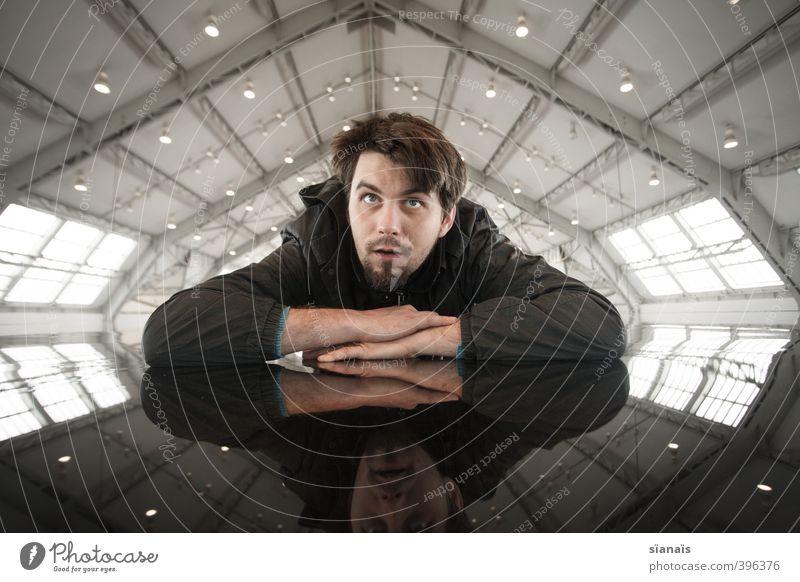 raumstation Stil Ferne Freiheit Häusliches Leben Raum Dachboden Wissenschaften Fortschritt Zukunft High-Tech Mensch Mann Erwachsene 30-45 Jahre Kunst Museum