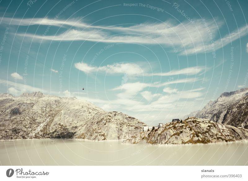 Grimsel Hospiz Ferien & Urlaub & Reisen Tourismus Ausflug Ferne Berge u. Gebirge Umwelt Natur Landschaft Urelemente Luft Wasser Schönes Wetter Felsen Alpen hoch