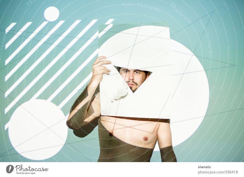 draco triangulum Mensch Mann Erwachsene Fenster Linie Kunst maskulin Design verrückt Kreis Papier Grafik u. Illustration Punkt Rauchen Gemälde Maske