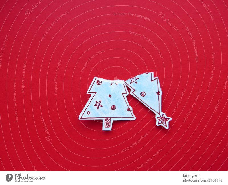 Weihnachten ist vorbei! Weihnachtsbaum Weihnachten & Advent kaputt Weihnachtsdekoration witzig Tannenbaum Christbaum weihnachtlich festlich