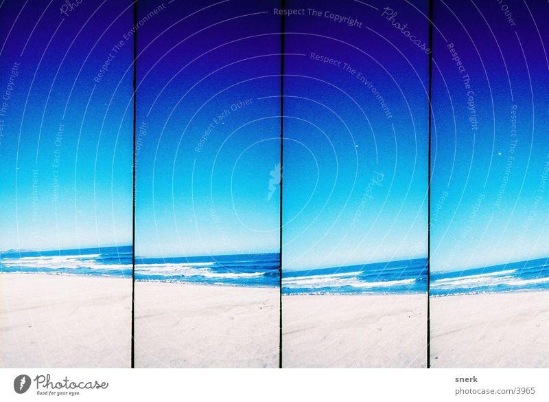 Beach Wasser blau Strand Sand