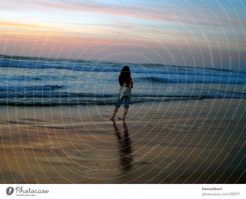 abend am strand Meer Strand Ferien & Urlaub & Reisen Stimmung