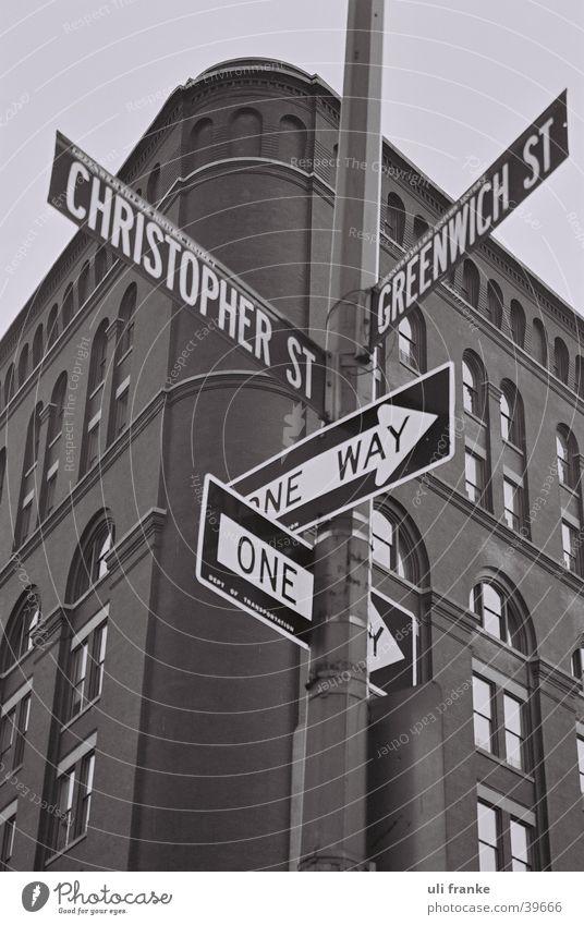 ecke in manhatten USA Amerika New York City Straßennamenschild Nordamerika Greenwich