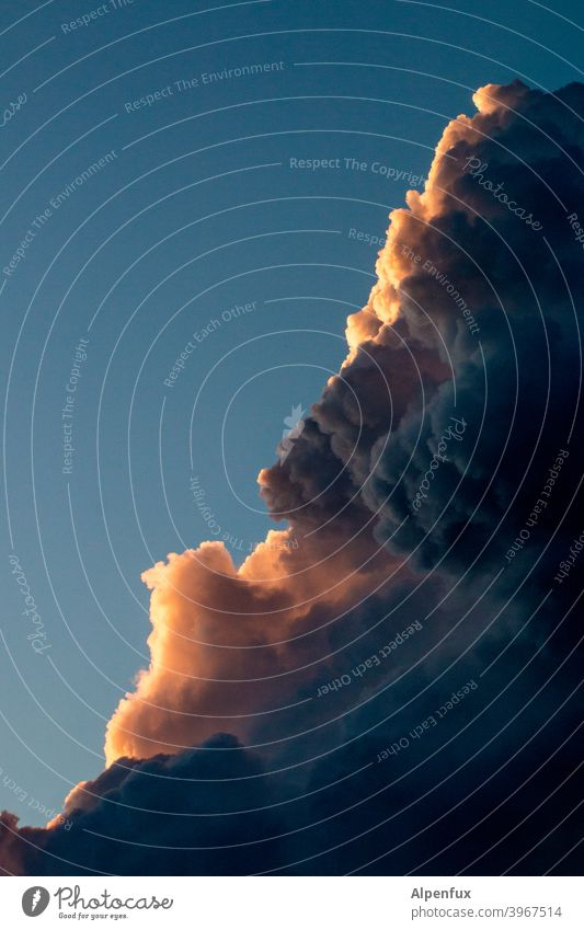heiter bis wolkig Wolken Wolkenformation Menschenleer Himmel Außenaufnahme Wolkenhimmel blau Wolkenbild Schönes Wetter Klima Farbfoto Umwelt Natur Tag