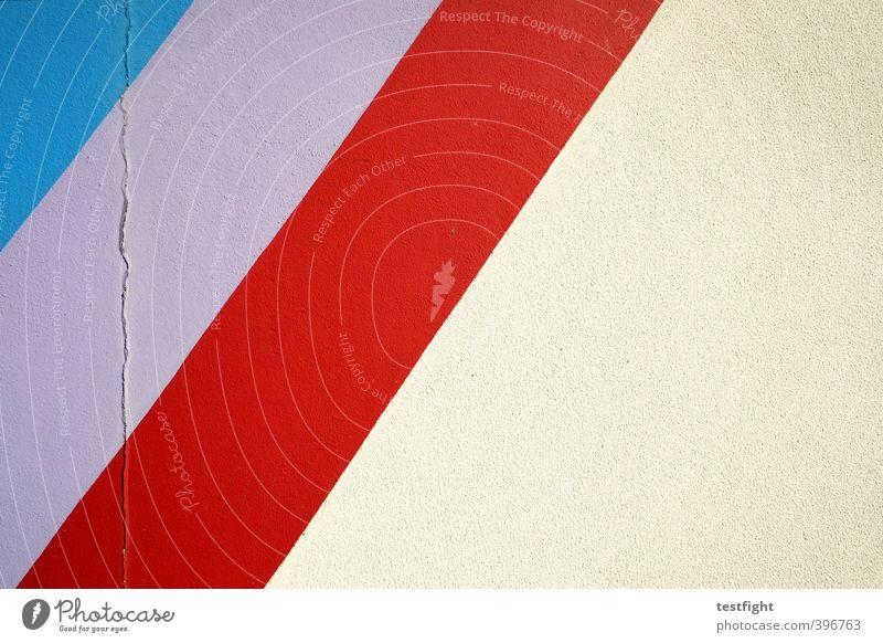 ultra violet blau rot Wand Farbstoff Mauer Linie Beton Streifen violett Composing