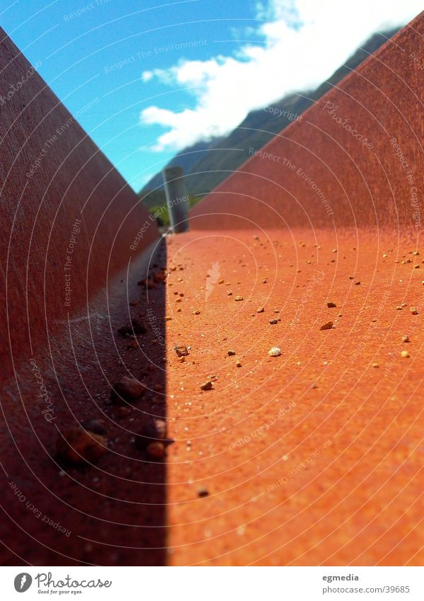 Rost & Schatten Gleise Eisen rot Industrie Makroaufnahme