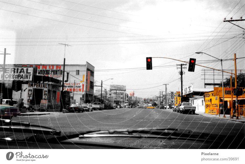 Mexiko Stadt Ferien & Urlaub & Reisen Straße PKW Ladengeschäft Ampel Mexiko