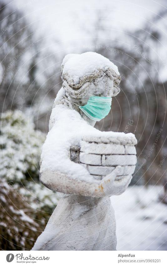 Denkmalschutz Maske Mundschutz Corona Coronavirus Corona-Virus Pandemie COVID Krankheit Infektionsgefahr Schutz Gesundheit Ansteckend Schützen coronavirus