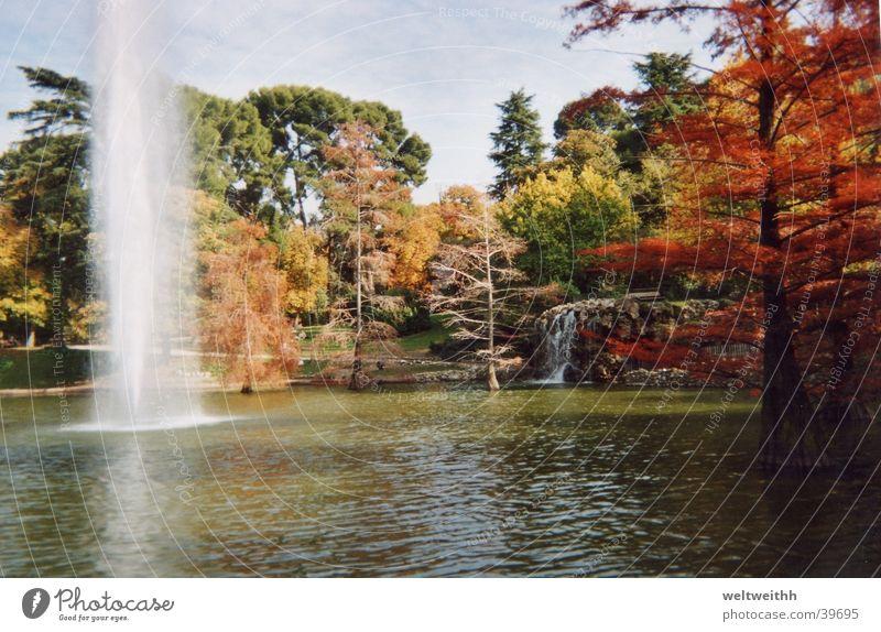Retiro Park Madrid Herbst Berge u. Gebirge See