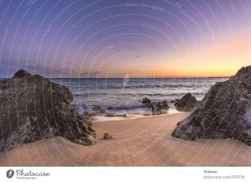 ...moments Himmel Natur Ferien & Urlaub & Reisen Sommer Sonne Meer Erholung Landschaft Strand Ferne Küste Freiheit Stein Sand Felsen Wellen