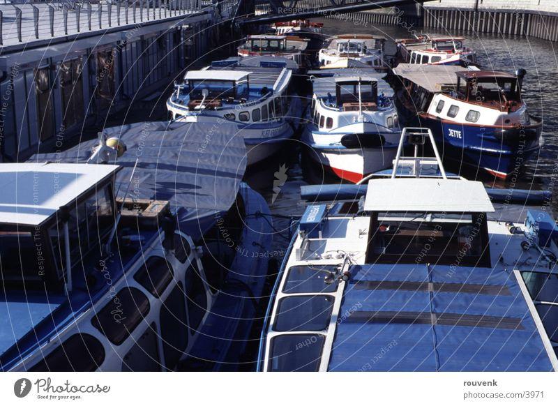 Hamburger Barkassen Wasser Wasserfahrzeug Hafen