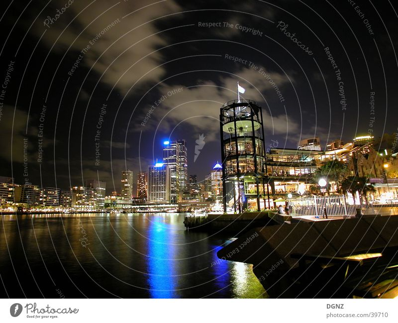 Sydney Hafen bei Nacht Australien Neuseeland