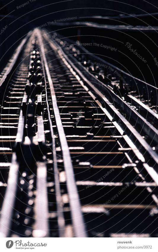 Schienen Zeche Zollverein Ernährung Architektur Gleise