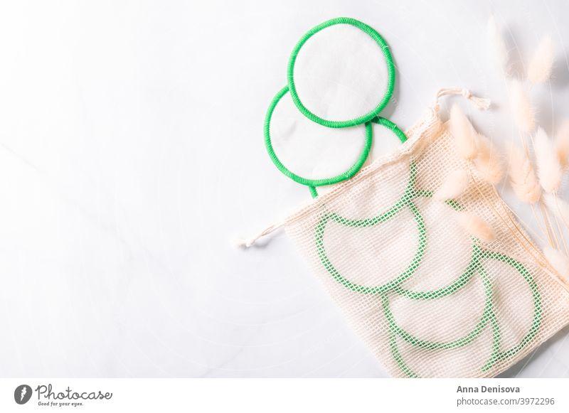 Wiederverwendbare Makeup-Entferner-Pads Polster Make-up-Entferner-Pads wiederverwendbar Baumwolle Entfernung Lifestyle Öko ökologisch Kosmetik nachhaltig