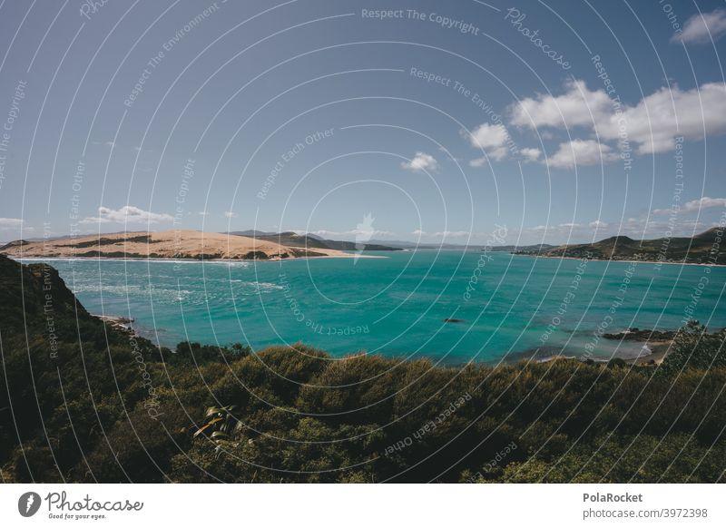 #AS# Magisches Meer II Strand und Meer grün blau whitewash Camping ufer Küste Himmel Landschaft reisen Sommer Wellen allein naturbelassen wild Wasser Sand