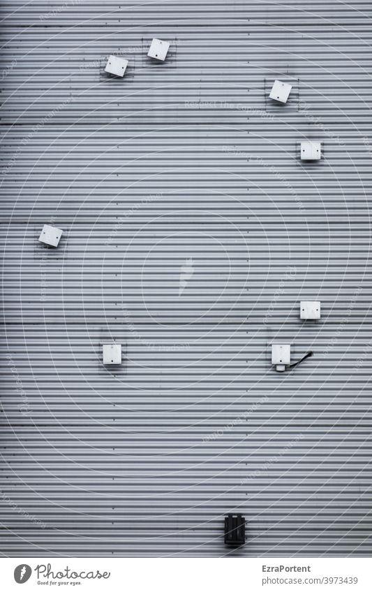 das schwarze Schaf Fassade Wand Linien Streifen Geometrie grafisch Muster Design Strukturen & Formen abstrakt Gebäude graphisch minimalistisch Hintergrundbild