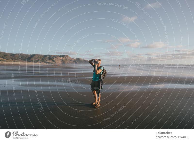 #AS# Strandfotograf Wegweiser Strukturen & Formen endlos weite Natur Küste Sommerurlaub Farbfoto Meer Menschenleer Außenaufnahme Tag Sandstrand spurenlesen