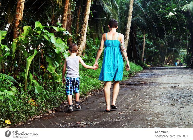 corona thoughts | verlorene zeit Wege & Pfade Urwald Regenwald Palme Kindheit Spaß haben Quatsch machen Spielen Costa Rica Außenaufnahme Junge Natur