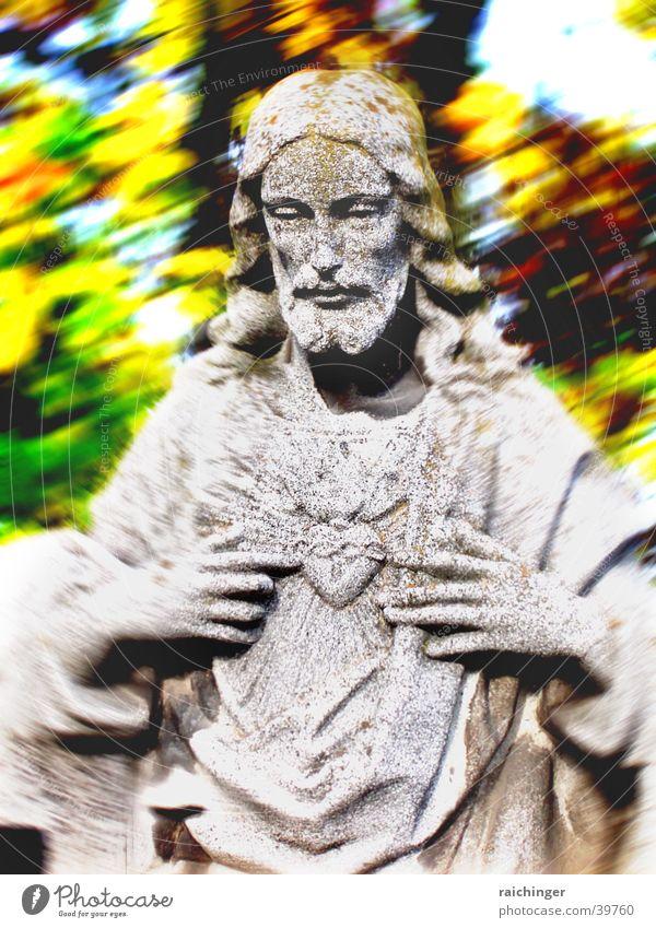 mann mit herz Statue Jesus Christus Religion & Glaube Christentum mystisch Denken Gebet Mann Herz Stein