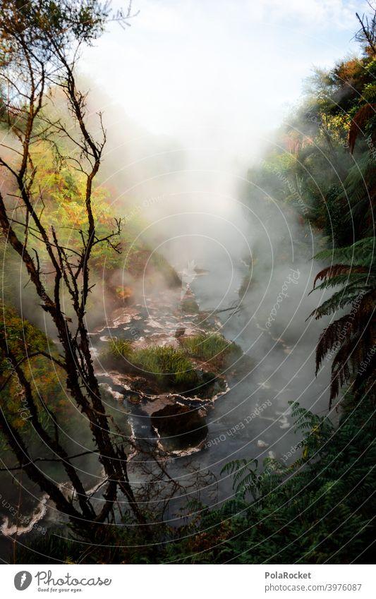 #AS# Jetzt en heißes Bad vulkanisch dampf Schwefel Vulkan natürlich Farbfoto Urelemente außergewöhnlich Umwelt Erde Menschenleer Wasserdampf anders aufregend