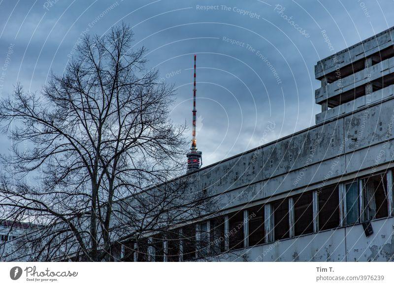 Berlin Haus der Statistik Fernsehturm TV-Tower Berliner Fernsehturm Architektur Himmel Alexanderplatz Turm Wahrzeichen Hauptstadt Sehenswürdigkeit Stadtzentrum