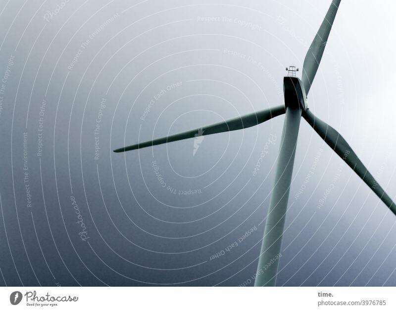 aufgeblasen | sound machine windrad energietechnik anlage windkraftanlage Rotorblätter Energiewirtschaft himmel dunkel anschnitt architektur konstruktion