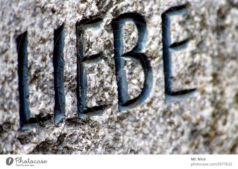 In Stein gemeißelt Liebe Schriftzeichen Gefühle Menschlichkeit Partnerschaft Trauer Glaube Tod Grabstein Hoffnung Verliebtheit Liebeserklärung Liebesbekundung