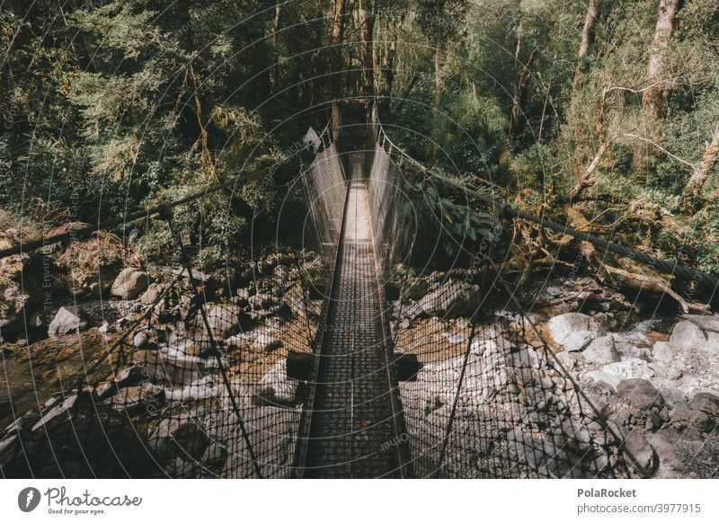 #AS# Abenteuer Hängebrücke II Wanderer Natur wandern Naturschutzgebiet ich perspektive Höhenangst gehen Netz fallen Landschaft Ferien & Urlaub & Reisen Freiheit