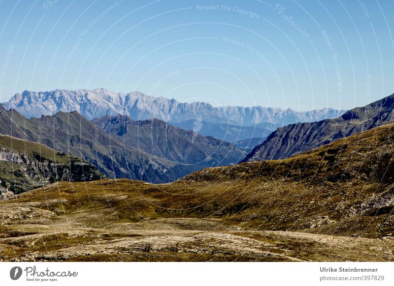 Auf der Großglocknerstraße Ferien & Urlaub & Reisen Tourismus Ausflug Ferne Sommer Berge u. Gebirge wandern Umwelt Natur Landschaft Erde Himmel