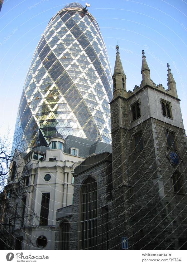 modern times Religion & Glaube Architektur Hochhaus Skyline London Bürogebäude England 30 St Mary Axe