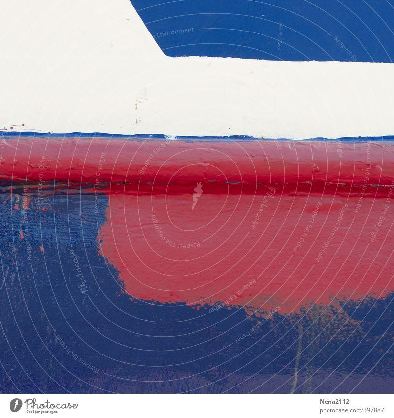 Kunst am Sonntag... Holz Graffiti blau rot weiß Farbstoff Farben und Lacke Farbenwelt streichen Linie Farbfoto mehrfarbig Außenaufnahme Nahaufnahme