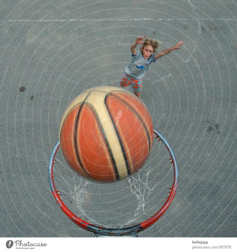 moja lopta Sport Fitness Sport-Training Ballsport Sportstätten Mensch Kind Junge Kindheit 1 8-13 Jahre werfen Basketball Basketballkorb Ziel Ergebnis springen