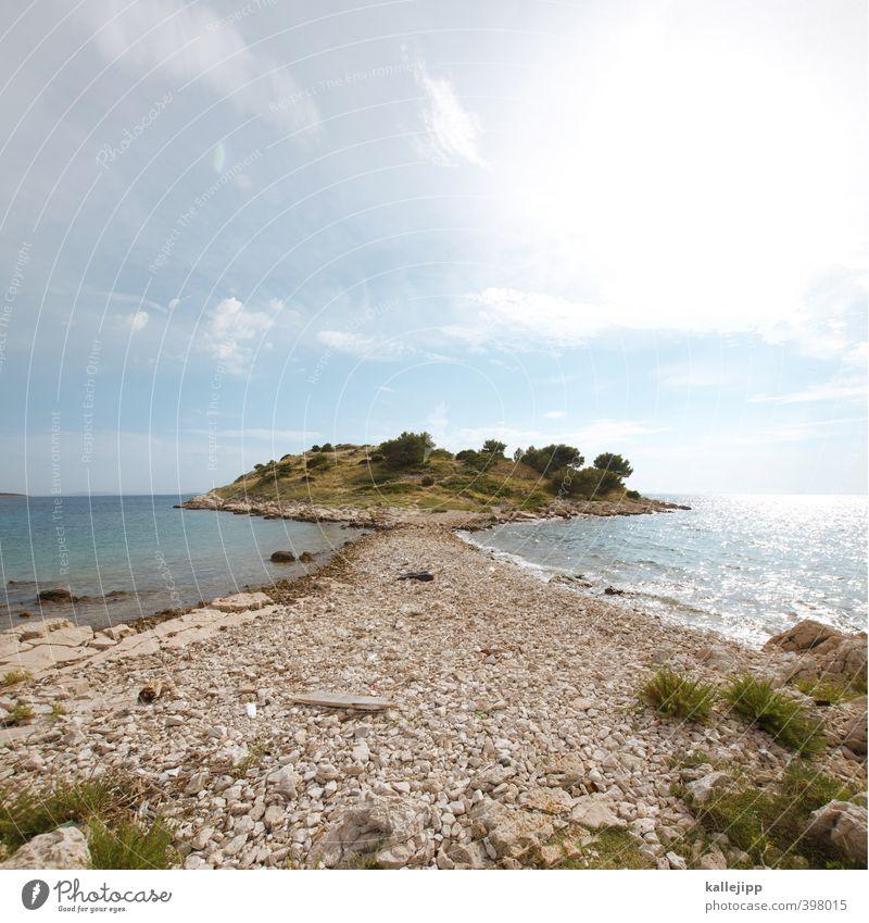 mirror island Himmel Natur Ferien & Urlaub & Reisen Wasser Sommer Sonne Baum Meer Landschaft Umwelt Küste Wege & Pfade Felsen Horizont Wetter Wellen