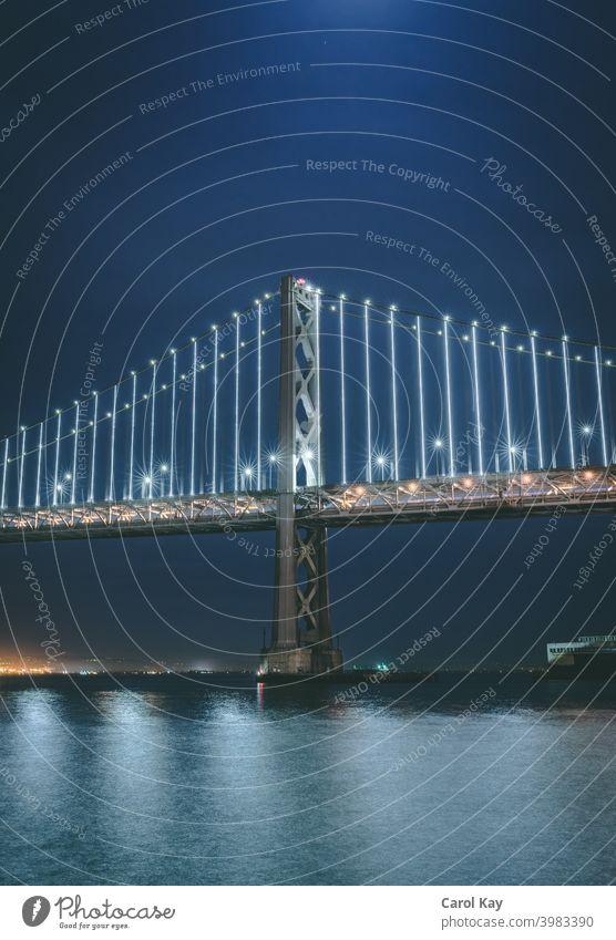 Midnight Bay Bridge, San Francisco Kalifornien Nachtverkehr Buchtbrücke San Francisco Bay san francisco skyline Golden Gate Bridge