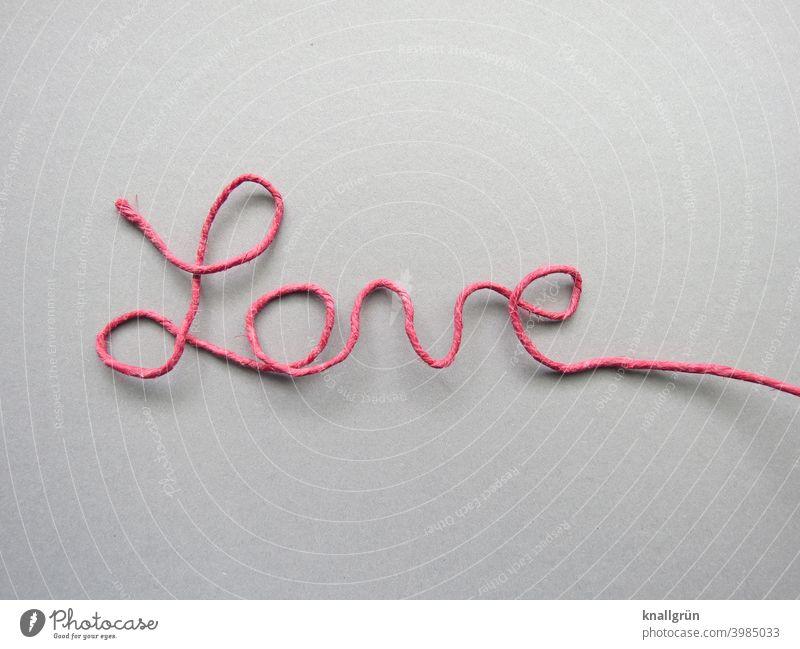 Love Liebe Schriftzug DIY Schriftzeichen Papierdraht Buchstaben Wort gebogen Draht selbstgemacht Typographie Text Zeichen Menschenleer Schreibschrift