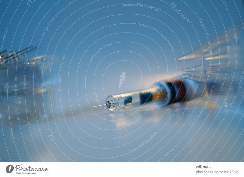 Und wieder eine Spritze ... Einwegspritze Schutzimpfung Corona Impfung Vorbeugung Impfstoff Covid19 Coronavirus Virus Diabetes Thrombose Influenza Cortison