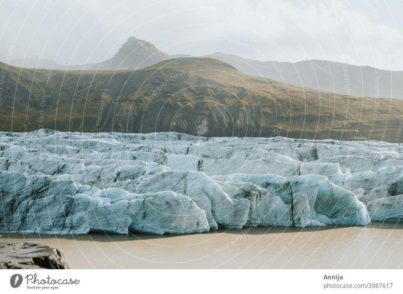 Gletscher Eis Schnee Schmelzen Island blau Landschaft Natur Berge u. Gebirge Frost Lagune globale Erwärmung Arktis