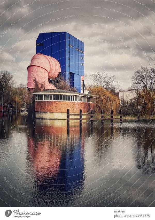 UT 2 Versuchsanstalt für Wasserbau und Schiffbau (VWS) (Berlin ) Spiegelung im Wasser Himmel Wolken Reflexion & Spiegelung Baum Ufer Menschenleer TU Tiergarten