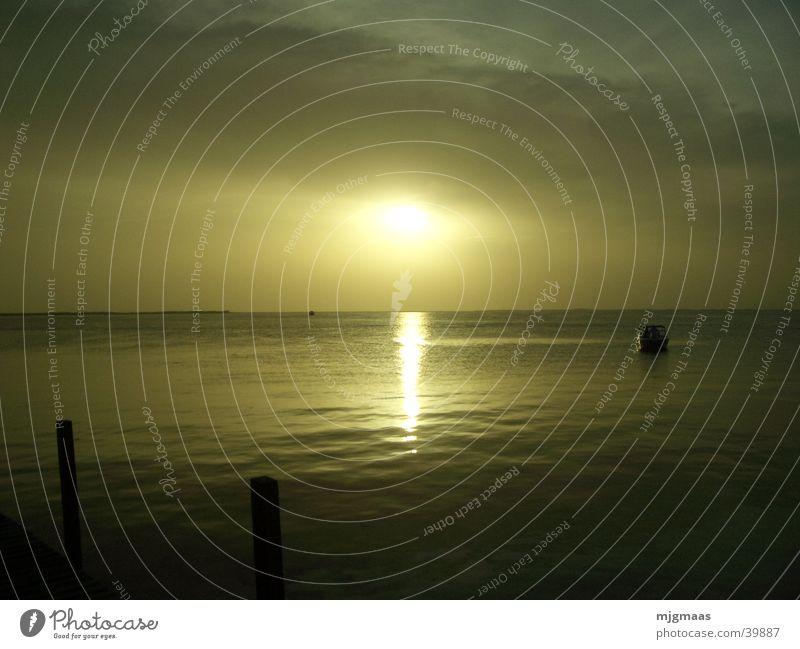 Sonneuntergang in Florida Wasser