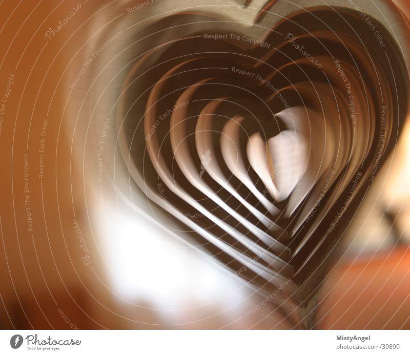 herz braun Herz Dinge Anschnitt