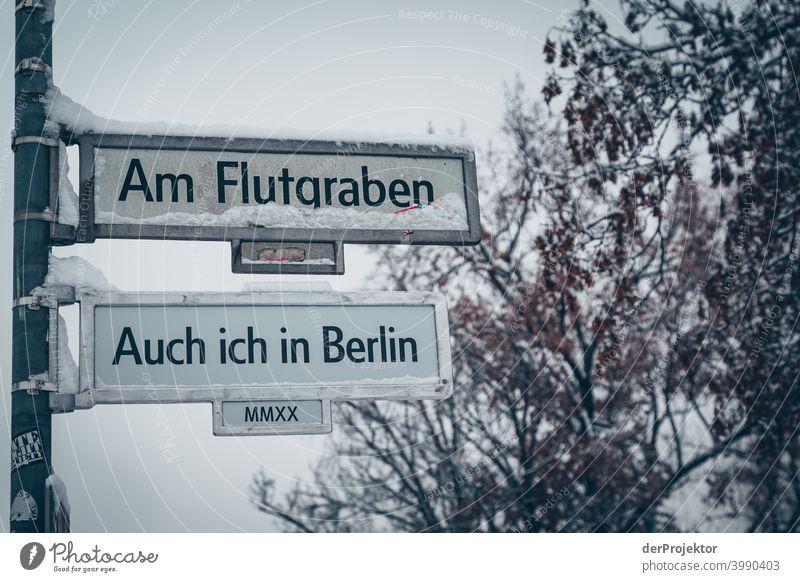 Am Flutgraben: Auch in Berlin Naturphänomene Gefahr einbrechen Städtereise Sightseeing Naturwunder gefroren Frost Eis Naturerlebnis Ferien & Urlaub & Reisen