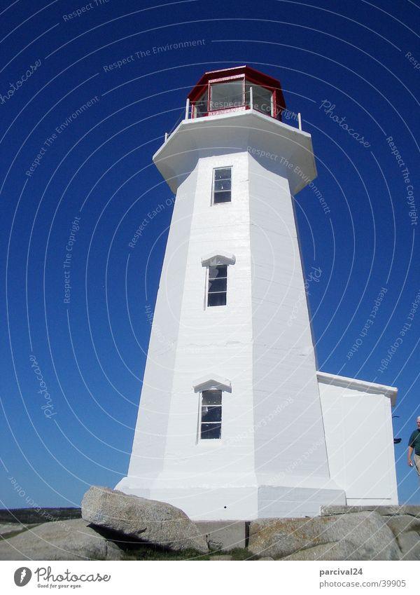 Halifax Leuchtturm Kanada weiß historisch Himmel blau