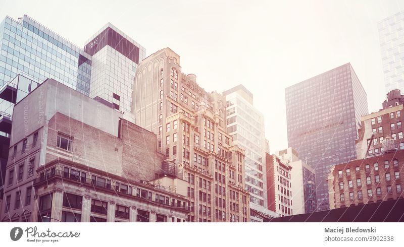 Alte und moderne Gebäude in New York City, USA. New York State Großstadt Manhattan Stadtbild Skyline Büro Wolkenkratzer Turm Architektur urban nyc Ansicht